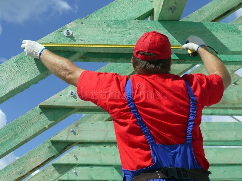 Construção do telhado foto de stock