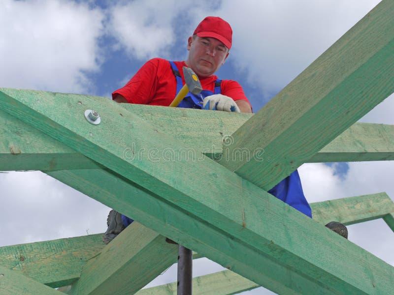 Construção do telhado imagens de stock