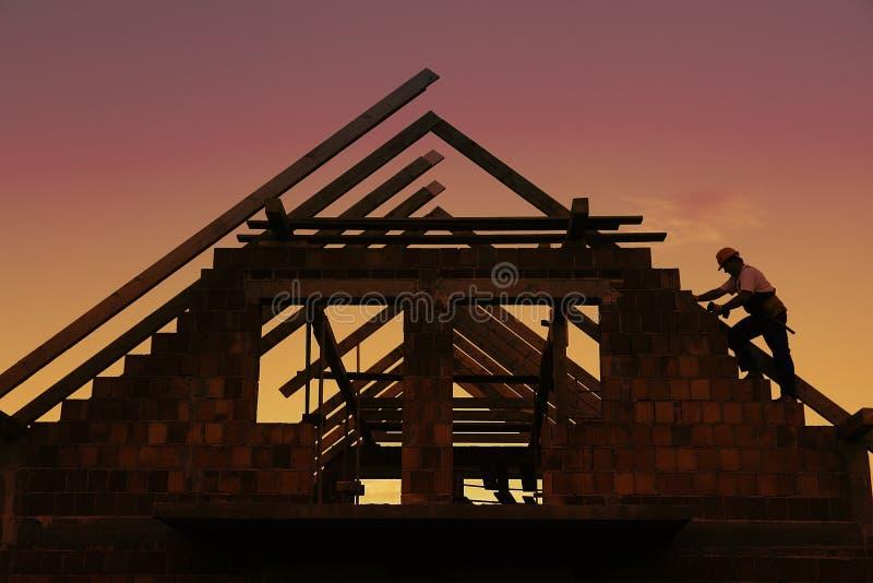 Construção do telhado foto de stock royalty free