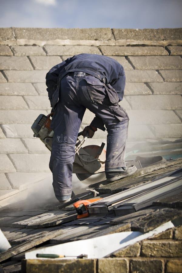 Construção do telhado imagem de stock
