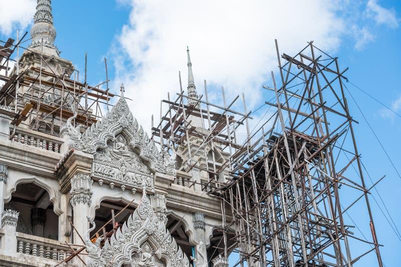 Construção do templo fotografia de stock royalty free