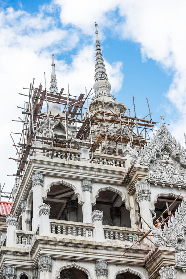 Construção do templo imagens de stock