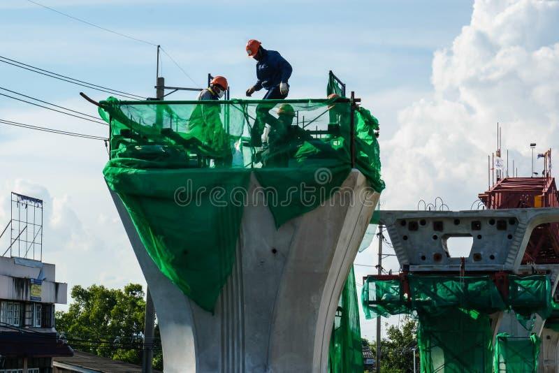 Construção do trem de céu imagem de stock