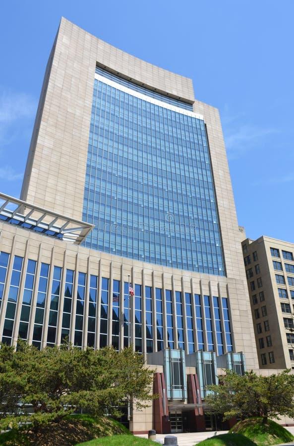 Construção do tribunal de Minneapolis, Minnesota, EUA fotos de stock royalty free
