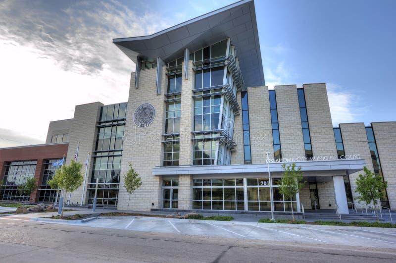 Construção do tribunal municipal no Oklahoma City fotos de stock royalty free