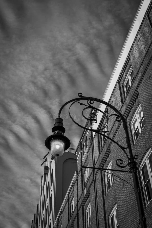 Construção do vintage em preto e branco foto de stock royalty free