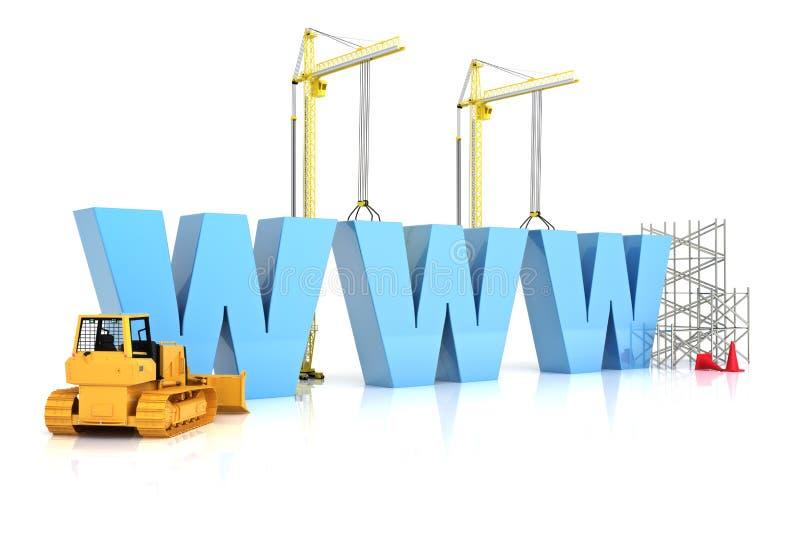 Construção do Web site, sob a construção ou o reparo ilustração stock