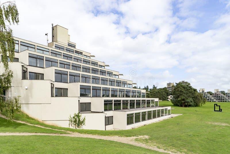 A construção do ziggurat na universidade de East Anglia imagem de stock royalty free