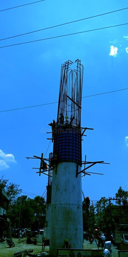 Construção dos corporaçõs da cidade da ponte excedente no chowk da missão imagem de stock