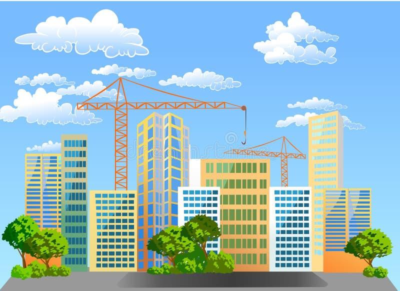 Construção dos novos domicilios. ilustração do vetor