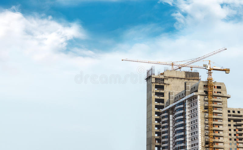 Construção e guindaste foto de stock