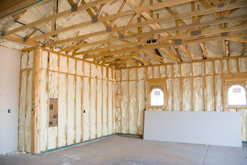 Construção e isolação Home fotografia de stock