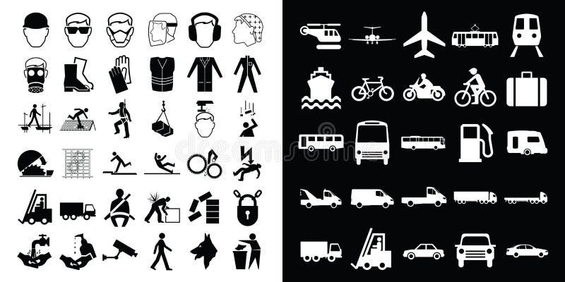 Construção e transporte ilustração stock