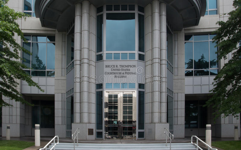Construção e tribunal federais em Reno Nevada imagens de stock