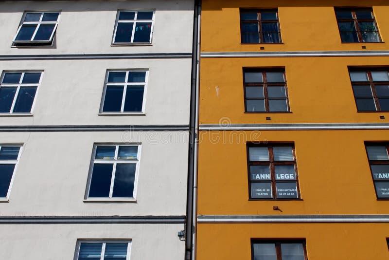 Construção em Bergen, Noruega imagens de stock royalty free