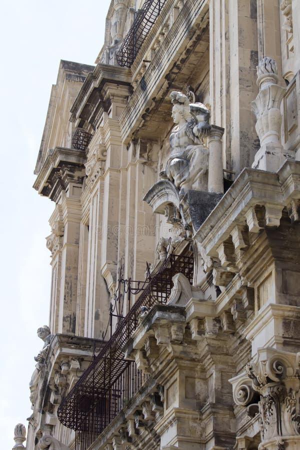Construção em Catania, Itália imagens de stock