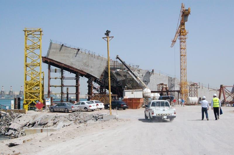 Construção em Dubai foto de stock royalty free