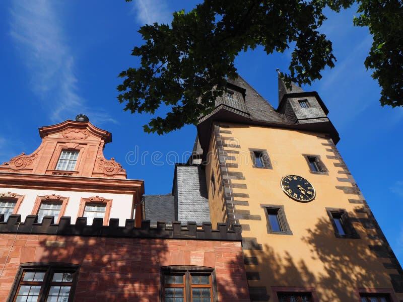 Construção em Francoforte, Alemanha foto de stock