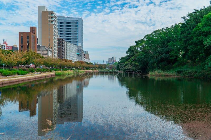 Construção em Fukuoka fotografia de stock royalty free
