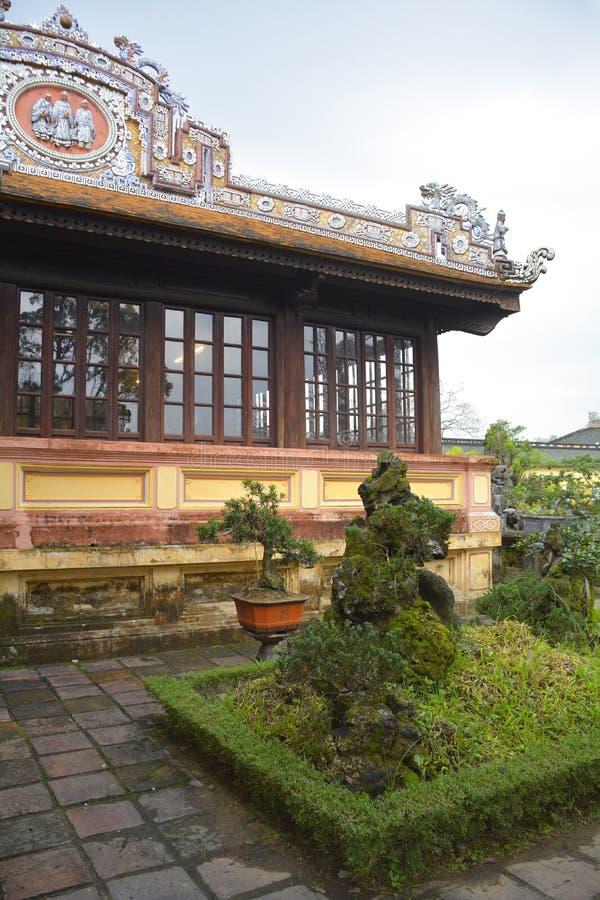 Construção em Hue Imperial City 1 imagens de stock