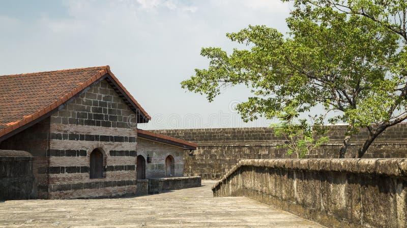 Construção em intra muros, Santiago do forte, Manila, Filipinas fotos de stock