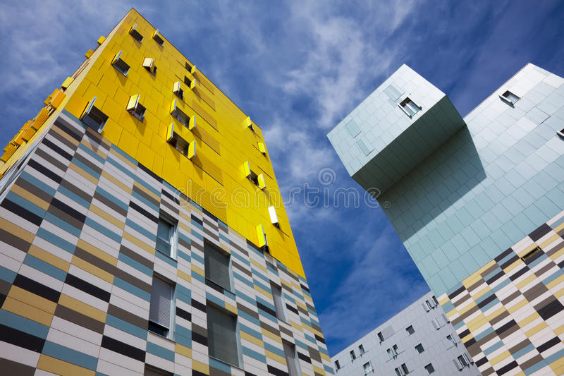 Construção em Salburua, Vitoria foto de stock royalty free