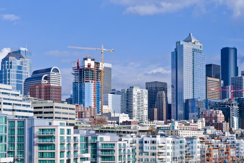 Construção em Seattle fotografia de stock royalty free