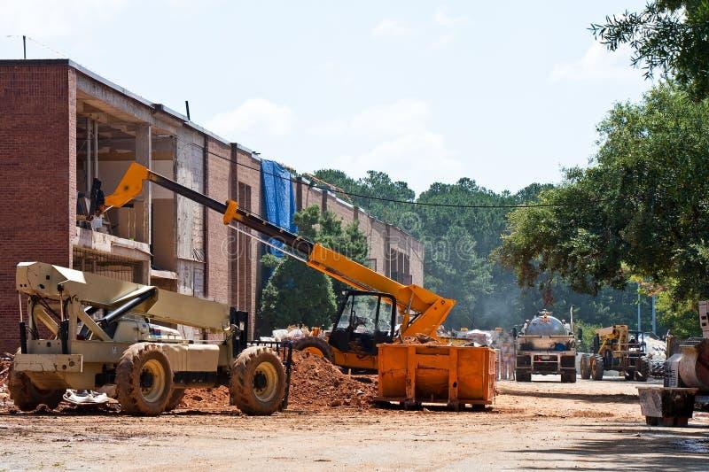Construção em uma escola foto de stock royalty free