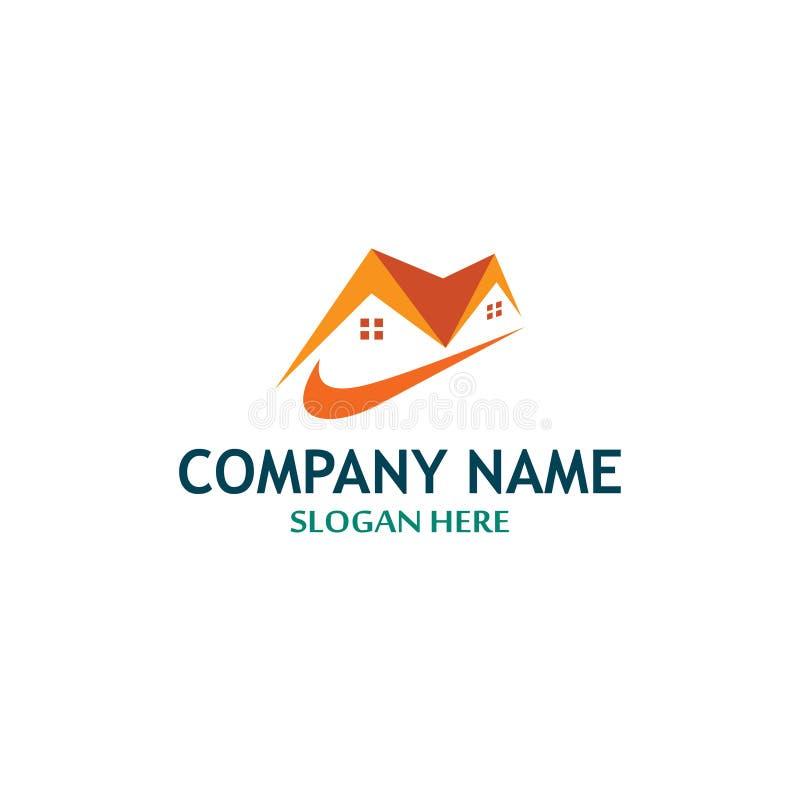 Construção Empresa Logo Template ilustração stock