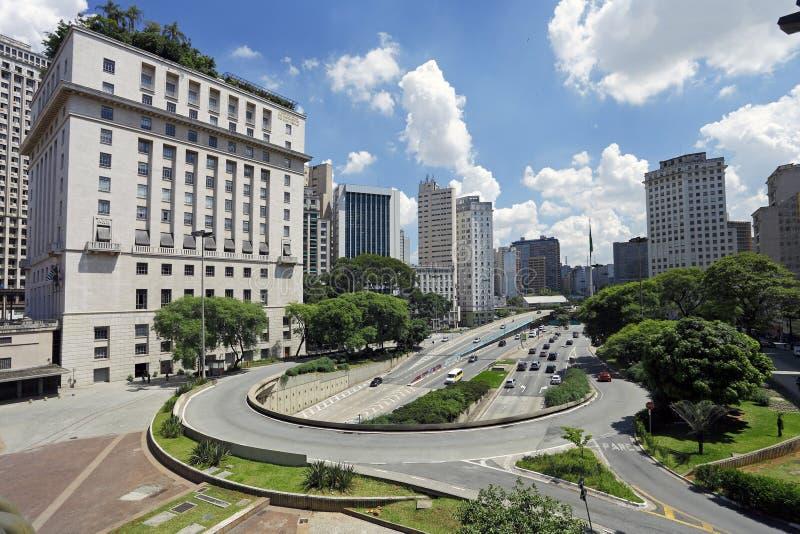 Construção famosa no Sao Paulo Brazil fotografia de stock royalty free