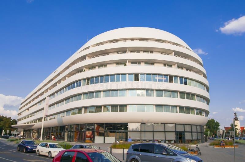 Construção futurista de OVO em Wroclaw fotografia de stock