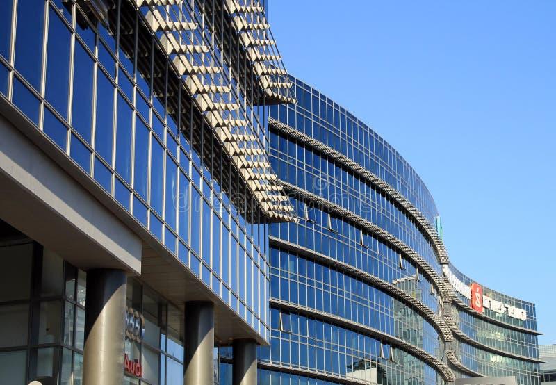 Construção futurista moderna da arquitetura, Herzliya, Israel imagem de stock royalty free
