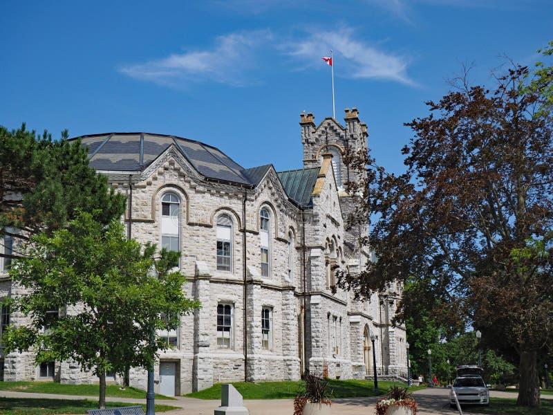 Construção gótico canadense da faculdade imagens de stock royalty free