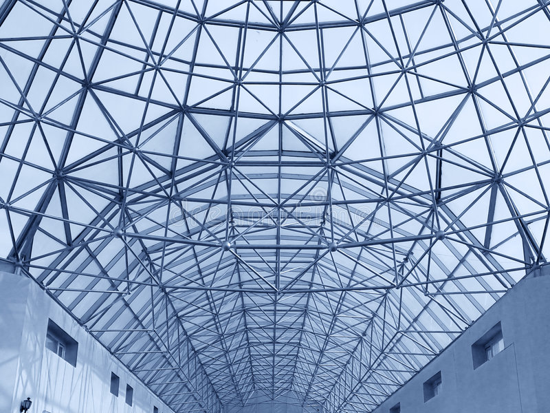 Construção grande do telhado foto de stock royalty free