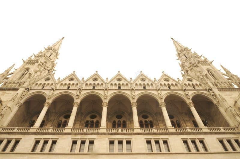 Construção húngara do parlamento fotos de stock royalty free