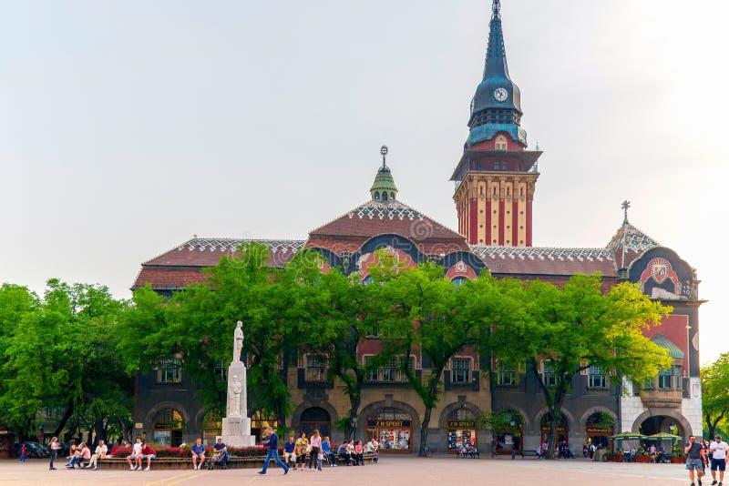 Construção histórica da câmara municipal em Subotica, Sérvia fotos de stock