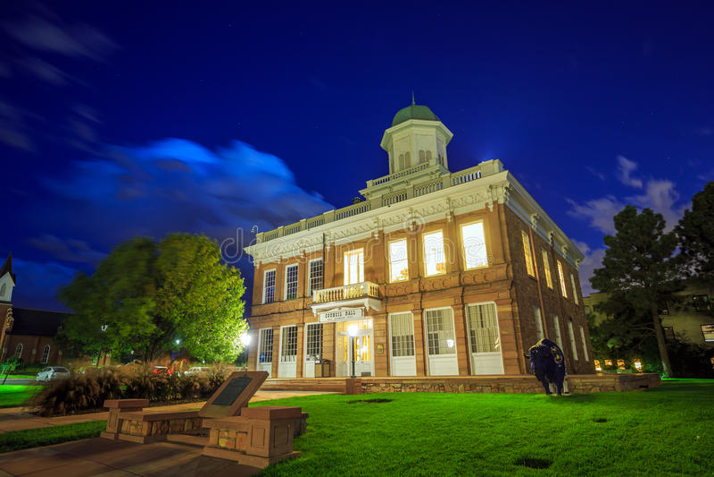 Construção histórica de Salão do Conselho em Salt Lake City, Utá imagens de stock royalty free