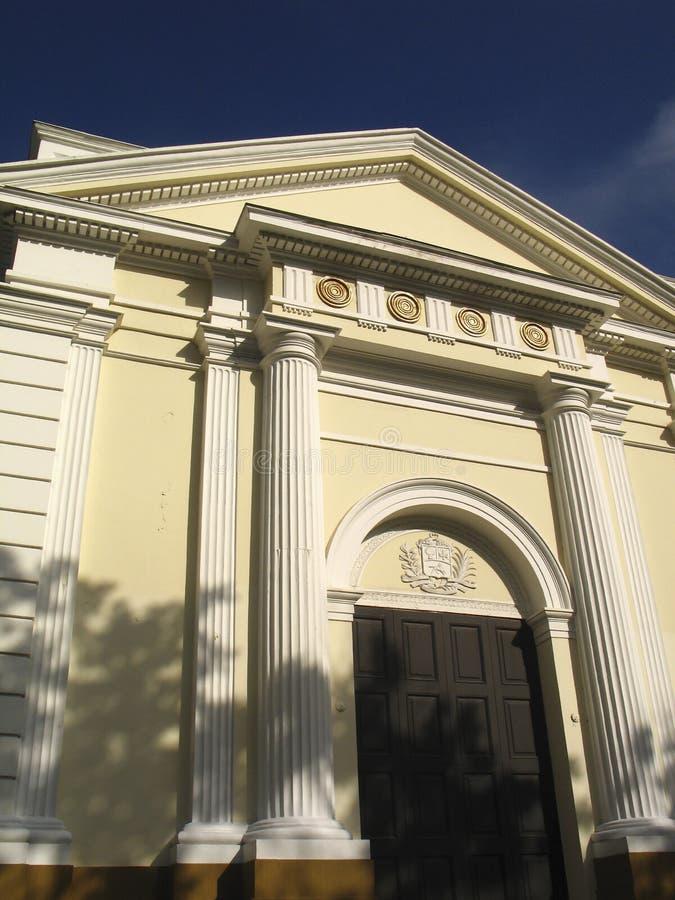 A construção histórica do Capitólio ou o palácio federativo da legislatura melhor sabem como o conjunto nacional na Venezuela do  foto de stock royalty free