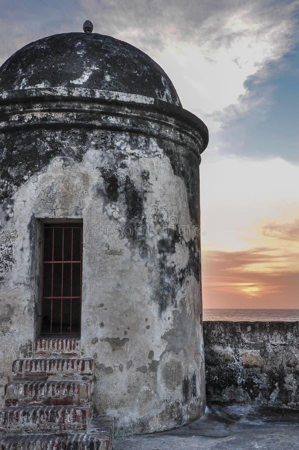 Construção histórica do centro. Cartagena de Índia, Colômbia. fotografia de stock