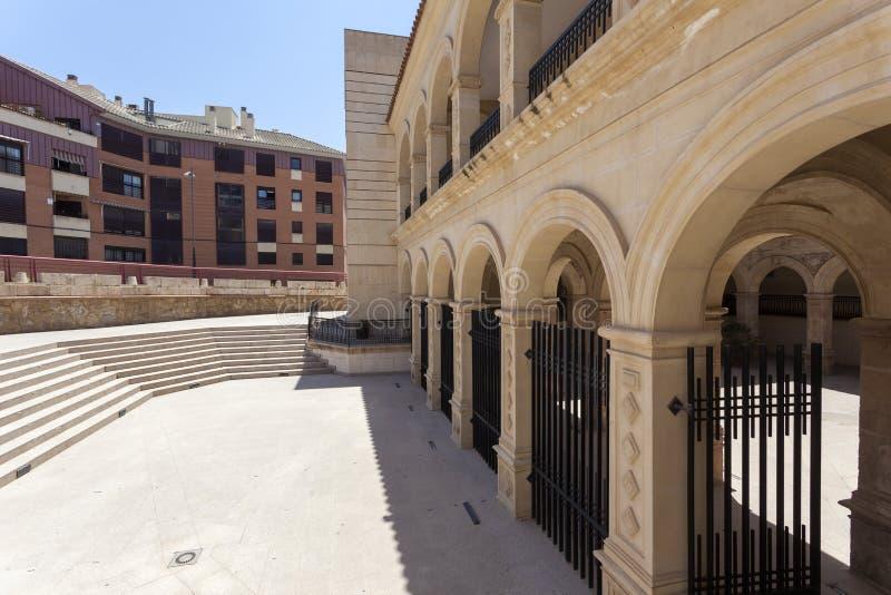 Construção histórica do convento em Lorca, Espanha imagem de stock