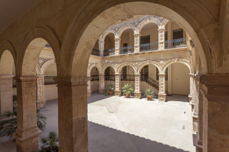 Construção histórica do convento em Lorca, Espanha imagens de stock royalty free