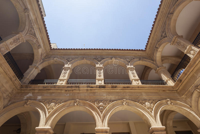 Construção histórica do convento em Lorca, Espanha foto de stock royalty free