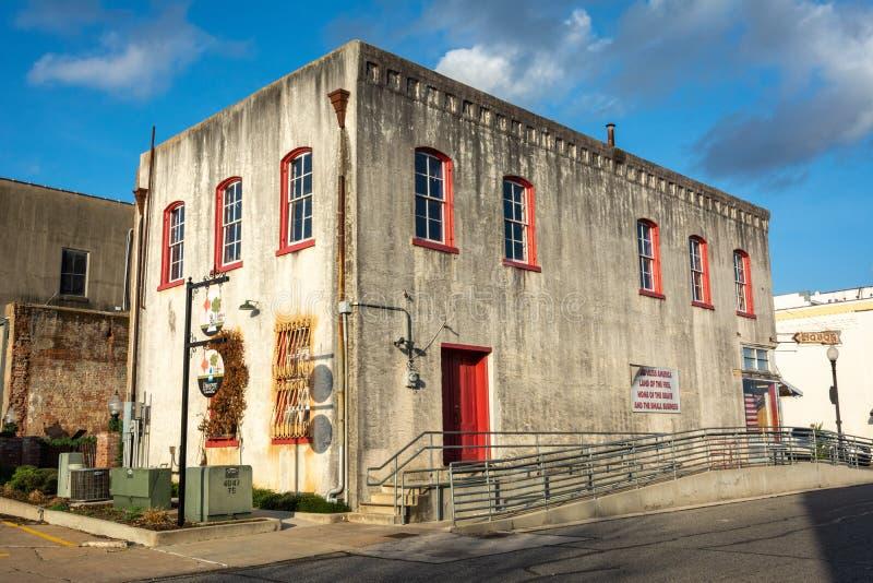 Construção histórica em Brenham, TX fotografia de stock