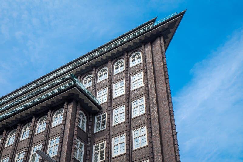 Construção histórica em Hamburgo imagem de stock