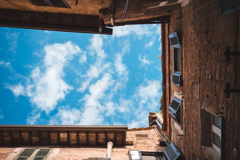 Construção histórica em Itália, Perugia, Úmbria fotos de stock royalty free