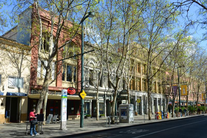 Construção histórica em San Jose, Califórnia, EUA imagens de stock