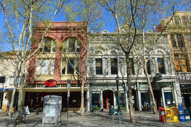Construção histórica em San Jose, Califórnia, EUA fotografia de stock