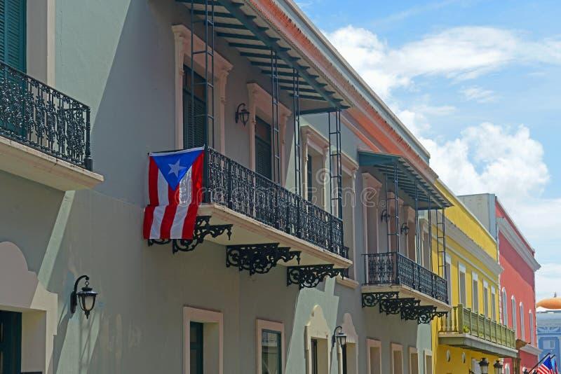 Construção histórica em San Juan velho, Porto Rico fotos de stock