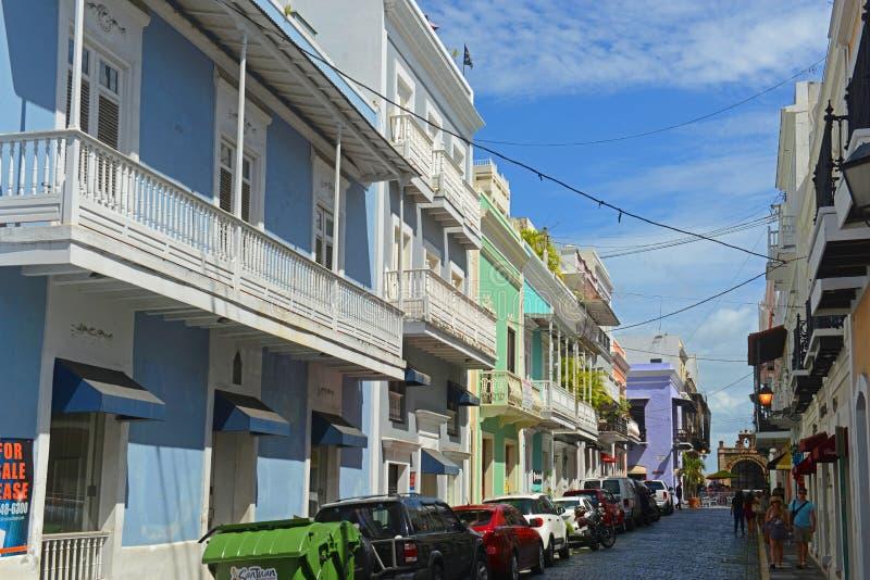 Construção histórica em San Juan velho, Porto Rico imagens de stock royalty free