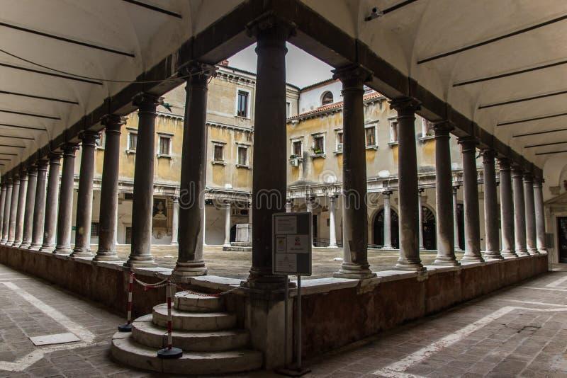 Construção histórica em Veneza, Itália foto de stock